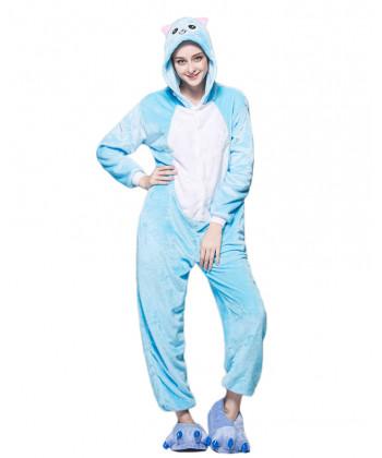 Adult Fairy Tail Happy Pajamas Animal Onesies Costume Kigurumi b92532b15f