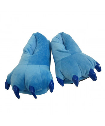 Unisex Animal Blue Stitch cosplay Kigurumi fleece slippers shoes