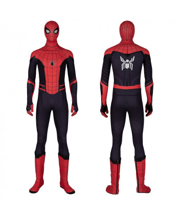 Spiderman Costume Cosplay Suit Peter Parker Spider-Man Far From Home Jumpsuit Version 2