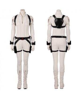 Black Widow Costume Cosplay Suit Natasha Romanoff White Version