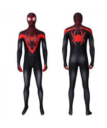 Ultimate Spider-Man Costume Cosplay Suit Miles Morales 3D Printed Outfit Ver 1