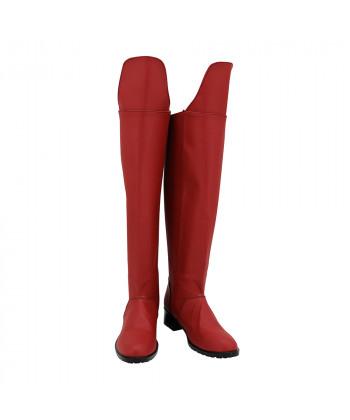 Supergirl Shoes Cosplay Kara Zor-El Women Boots Ver 1