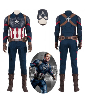 Avengers Endgame Captain America Steve Rogers Cosplay Costume Full Suit Version 1