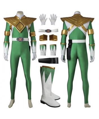 Mighty Morphin Power Rangers Green Dragon Ranger Cosplay Costume