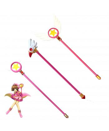 CARDCAPTOR SAKURA KINOMOTO SAKURA Magic Wand Weapon PVC Cosplay Props