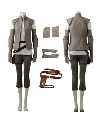 2017 Star Wars The Last Jedi Rey Cosplay Costume