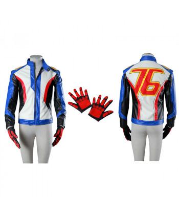 Overwatch Soldier 76 Costume Cosplay Jacket Gloves