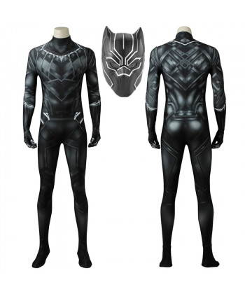 Captain America Civil War Black Panther T'Challa Cosplay Costume 3D Printed Bodysuit Spandex
