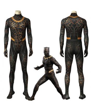 Black Panther Erik Stevens Killmonger Cosplay Costume 3D Printed