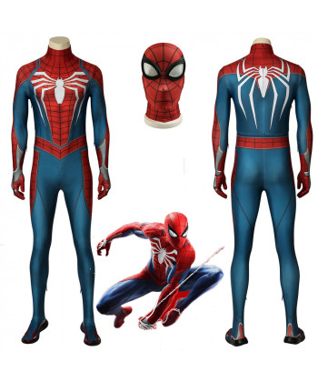 Game Spider-Man Peter Parker PS4 Cosplay Costume 3D Printed Halloween Outfit