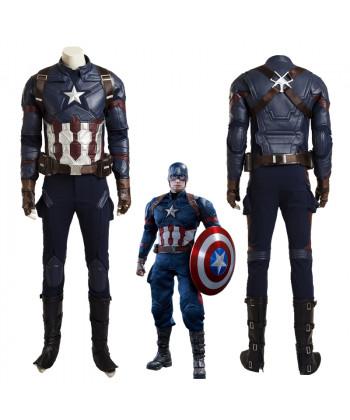Top Grade Captain America 3 Civil War Steve Rogers Cosplay Costume