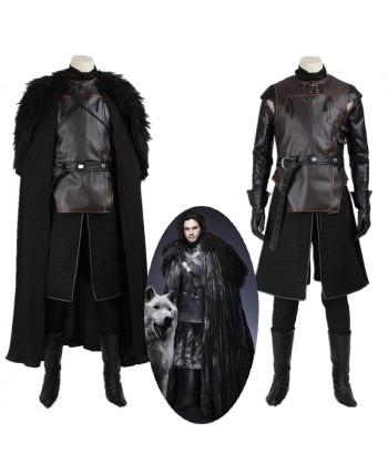 New Game of Thrones Jon Snow Cosplay Costume Top Grade