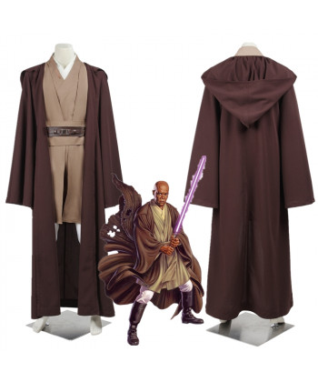 Star Wars Jedi Knight Mace Windu Cosplay Costume