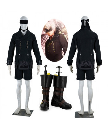 New NieR Automata YoRHa No 9 Type 9S Cosplay Costume