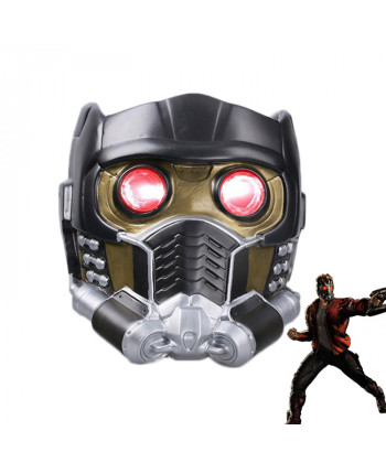 Guardians of the Galaxy Peter Jason Quill Star Lord Helmet Mask Cosplay Prop with LED