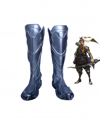 OW Overwatch Shimada Hanzo Boots Cosplay Shoes
