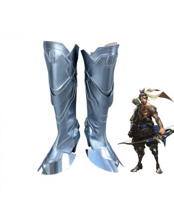 OW Overwatch Shimada Hanzo High Heel Boots Cosplay Shoes