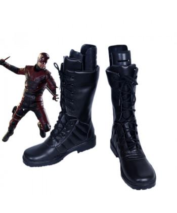 Daredevil Matt Cosplay Shoes Black Boots