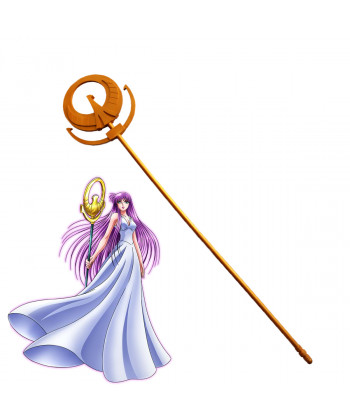 Saint Seiya Athena Saori Kido wand PVC Cosplay Prop