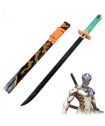 OW Overwatch Genji Young Skin Long Sword with Sheath Cosplay Prop