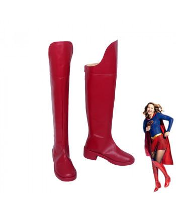 Supergirl Kara Danvers Kara Zor El Red Boots Cosplay Shoes