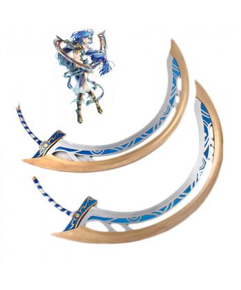 Ys Ⅷ:Lacrimosa of Dana Dana Double Swords Cosplay Prop
