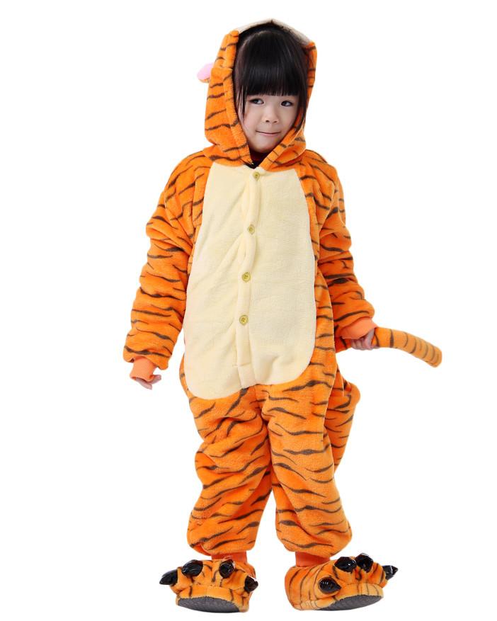 ce62dc4dc4 Kids Tigger Pajamas Animal Onesies Costume Kigurumi