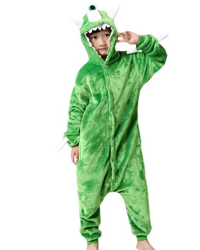 15d0b68e57c7 Kids Monsters Mike Wazowski Pajamas Animal Onesies Costume Kigurumi