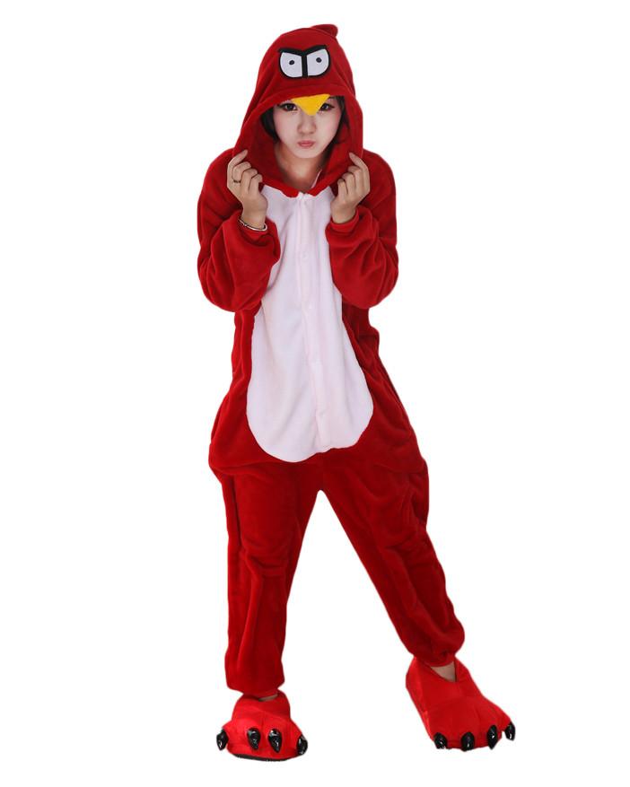 Adult Red Bird Cosplay Pajamas Animal Onesies Costume Kigurumi 168868483