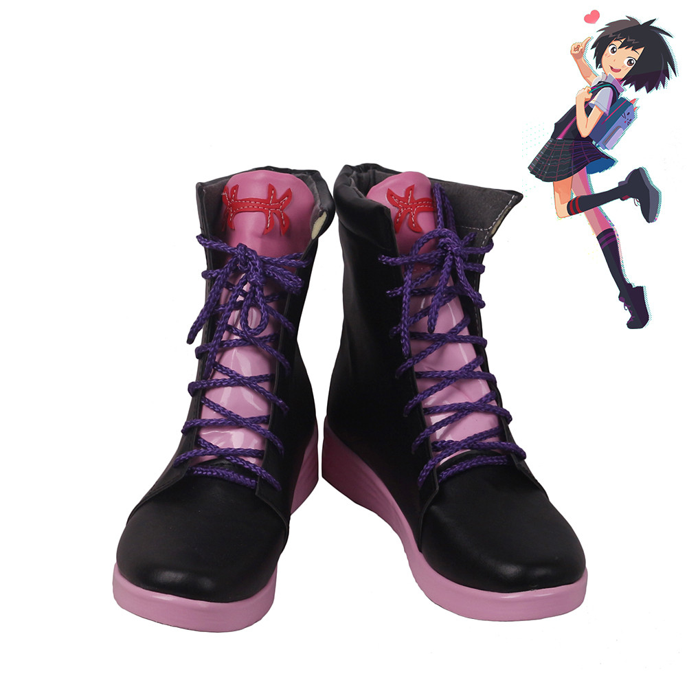 9e8cb6eb0c48f Spider-Man Into the Spider Verse Peni Parker Cosplay Shoes Women Boots