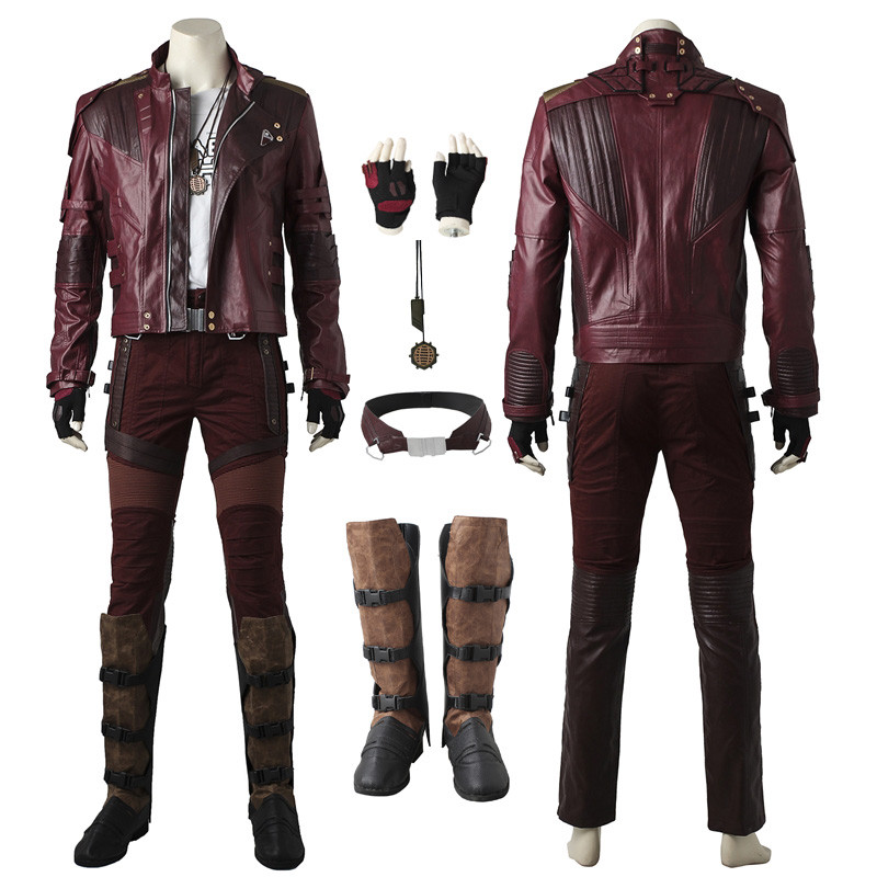 437195a23 Guardians of the Galaxy 2 Star Lord Cosplay Costume Peter Jason ...