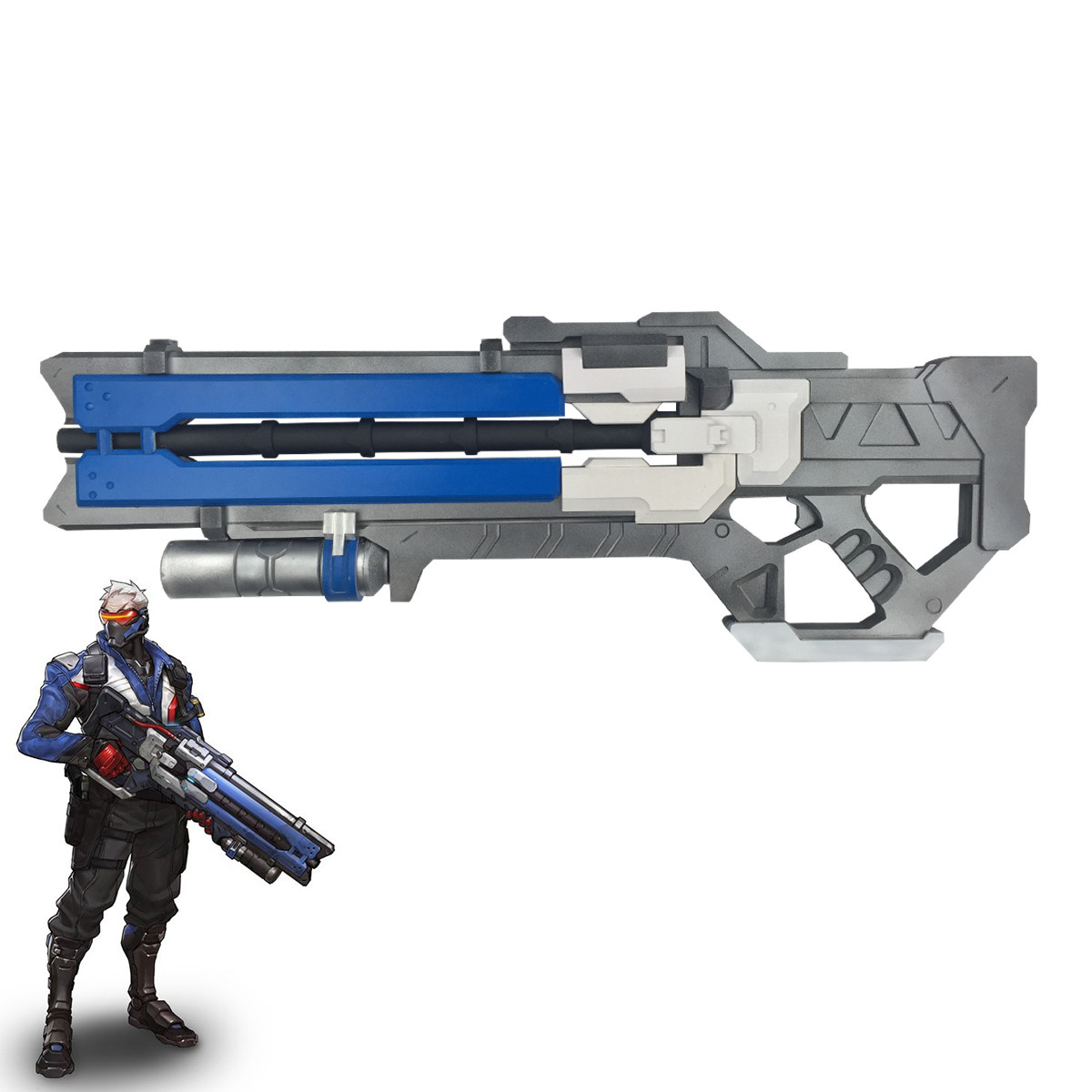 Overwatch Soldier 76 Weapon PVC Gun Cosplay Props