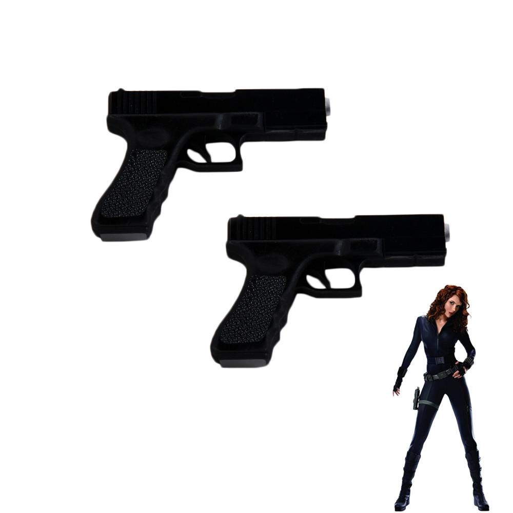 The Avengers Black Widow Natasha Double Guns Cosplay Props