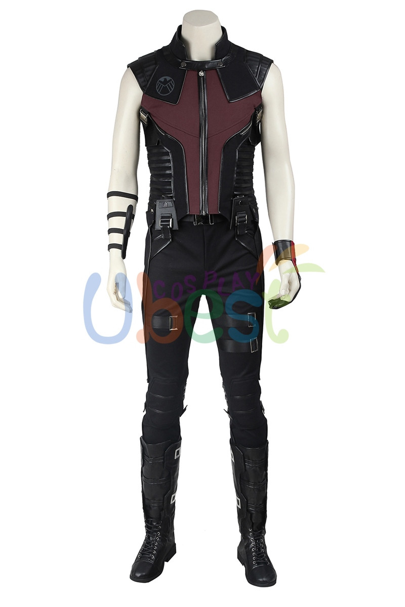 The Avengers Clint Barton Hawkeye Cosplay Costume