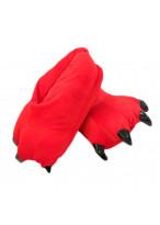Unisex Animal Red cosplay Kigurumi fleece slippers shoes