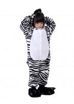 Kids Zebra Pajamas Animal Onesies Costume Kigurumi