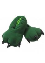 Unisex Animal Green cosplay Kigurumi fleece slippers shoes