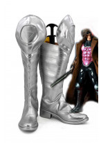 X-Men Gambit Cosplay Shoes Silver Boots Custom Made