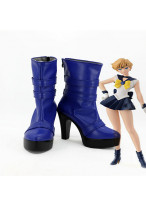 Sailor Moon Tenoh Haruka Sailor Uranus Amara Blue Cosplay Shoes Boots