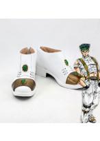 JoJo's Bizarre Adventure Rohan Kishibe White Cosplay Boot Shoes