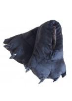 Unisex Animal Black cosplay Kigurumi fleece slippers shoes