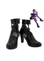 LOL League of Legends KDA Evelynn Cosplay Shoes High Heels Women Boots Black Version