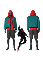 Miles Morales Costume Cosplay Suit Spider-Man Into the Spider-Verse Jacket Outfit Version 1
