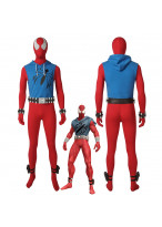 Scarlet Spider Ben Reily Spider Man Cosplay Costume Jumpsuit Outfit