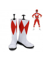 Mighty Morphin Power Rangers Red Ranger Geki Cosplay Shoes Boots