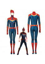 Captain Marvel Carol Danvers Jumpsuit Cosplay Costume 3D Printed