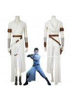 Star Wars 9 The Rise of Skywalker Rey Cosplay Costume Women's Halloween Outfit