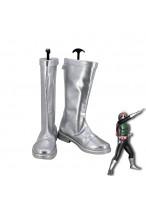 Masked Rider Kamen Rider 1 Takeshi Hongo Cosplay Silver Shoes Men Boots Version 1