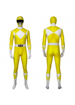 Yellow Ranger Costume Cosplay Suit Mighty Morphin Power Rangers 3D Printed Adult Outfit