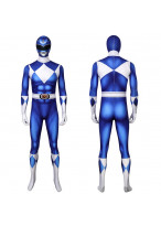 Blue Ranger Costume Cosplay Suit Mighty Morphin Power Rangers 3D Printed Halloween Outfit